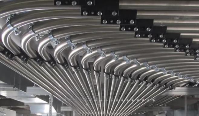 气力输送管道输送气体流程