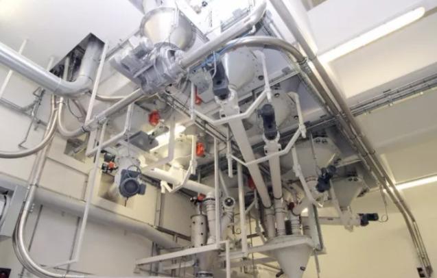 气力输送系统输送现场实拍图1